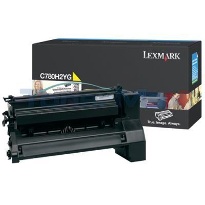 LEXMARK C780 X782 TONER CARTRIDGE YELLOW 10K